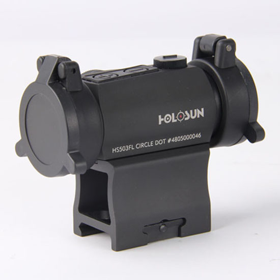 Holosun Red Dot Dual Reticle with Side Battery and High/Low Adjusting Turret