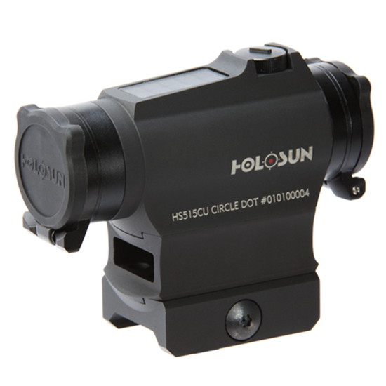 Holosun Red Dot Dual Reticle Solar with Flip Caps and QR Mount