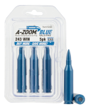Pachmayr Rifle Training Rounds, Azoom 12323 Blue Snap Caps 243  5pk