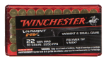 Winchester Ammo Varmint Hv, Win S22m2pt   22 Win Mag   Vmax  50/20