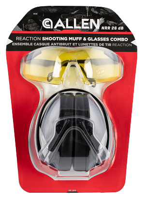 Allen Reaction Muff & Glasses Combo, Allen 2316  Reaction Shooting Muff   Glasses Combo