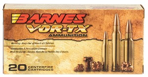 Barnes Bullets Vor-tx Rifle, Brns 31190 Bb552x1     5.56x45    62 Tsx Bt  20/10